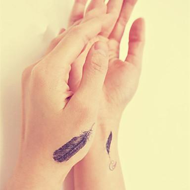 vízálló ideiglenes tetoválás matrica toll tetoválás totem vízátvezetéshez hamis tetoválás