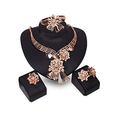 Damskie Zestawy biżuterii Rhinestone Spersonalizowane Kwiatowy Kwiat Vintage Kwiaty Modny euroamerykańskiej Ślub Impreza Specjalne okazje