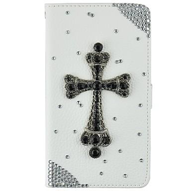 아이폰 5 / 5 초 / 자체에 대한 카드 소지자와 매우 얇은 수제 블링 크리스탈 다이아몬드 합성 가죽 지갑 케이스