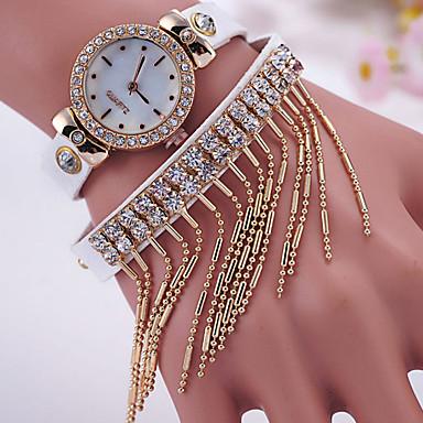 여성용 석영 모조 다이아몬드 시계 뜨거운 판매 가죽 밴드 참 패션 블랙 화이트 레드 브라운 그린 핑크
