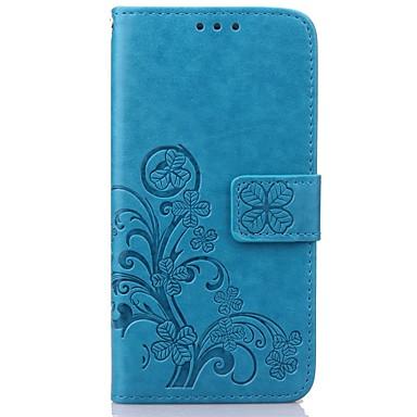 halpa Galaxy S4 Mini kotelot / kuoret-Etui Käyttötarkoitus Samsung Galaxy Samsung Galaxy kotelo Lomapkko / Korttikotelo / Tuella Suojakuori Kukka PU-nahka varten S8 Plus / S8 / S7 edge