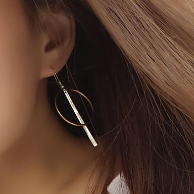 Női Beszúrós fülbevalók Francia kapcsos fülbevalók minimalista stílusú Európai Réz Circle Shape Geometric Shape Ékszerek Kompatibilitás