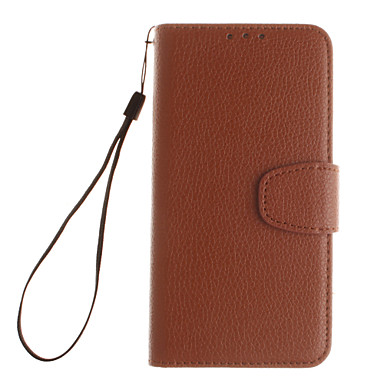 Mert Samsung Galaxy S7 Edge Kártyatartó / Pénztárca / Állvánnyal / Flip Case Teljes védelem Case Egyszínű Műbőr SamsungS7 edge / S7 / S6