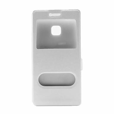 Case Kompatibilitás Samsung Galaxy Samsung Galaxy tok Betekintő ablakkal Flip Héjtok Tömör szín PU bőr mert J7 J5 (2016)