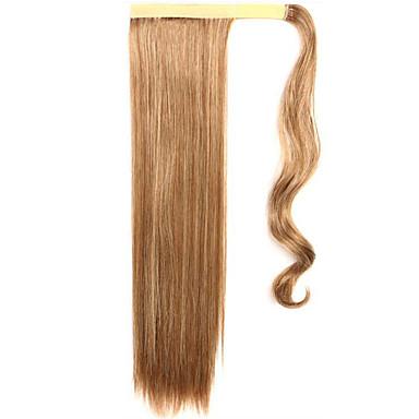 arany 60cm szintetikus magas hőmérsékletű vezetékes paróka egyenes haj lófarok színe 12/613