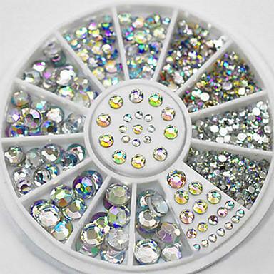 300 pcs Tırnak Takısı Yapay Elmaslar Sevimli tırnak sanatı Manikür pedikür Günlük Moda / Nail Jewelry
