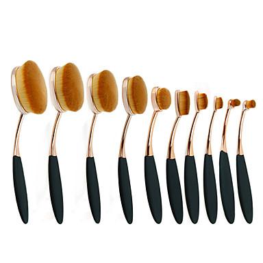 10 Contour Brush / Kefe készlet / Pirosító ecset / Száj ecset / Korrektor ecset / Púderecset / Alapozó ecset / Más ecsetSzintetikus