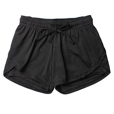 여성용 러닝 반바지 통기성 소프트 압축 부드러움 하단 용 운동&피트니스 달리기 블랙 S M L XL