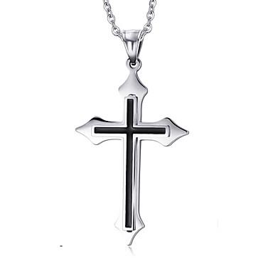 billige Vedhæng-Herre Halskædevedhæng Vedhæng Kors Damer Europæisk Kryds Mode Titanium Stål Sølv Halskæder Smykker Til Daglig Afslappet