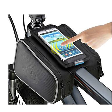 ROSWHEEL Бардачок на раму Сотовый телефон сумка 5.0 дюймовый Влагонепроницаемый Водонепроницаемая молния Пригодно для носки Сенсорный