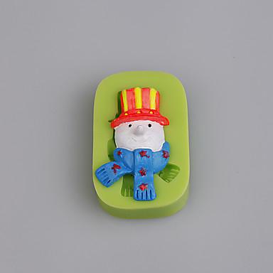 boldog hóember arc karácsonyi szilikon penész torta díszítése fimo gyanta színes véletlenszerű
