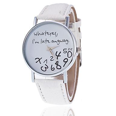 Γυναικεία Ρολόι Καρπού Χαλαζίας Συνθετικό δέρμα με επένδυση Μαύρο   Λευκή    Κόκκινο Καθημερινό Ρολόι Αναλογικό 0c39ba7aa47