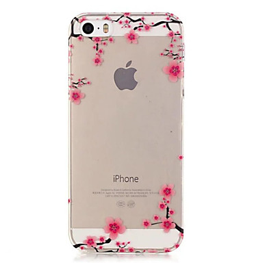 제품 iPhone X iPhone 8 아이폰5케이스 케이스 커버 투명 뒷면 커버 케이스 꽃장식 소프트 TPU 용 iPhone X iPhone 8  Plus iPhone 8 iPhone SE/5s iPhone 5