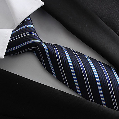 Men's Party / Work / Basic Polyester Necktie / Blue