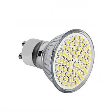 billige Bulk LED lamper-4stk 3.5 W LED-spotlys 300-350 lm GU10 GU5.3(MR16) E26 / E27 MR16 60SMD LED Perler SMD 2835 Dekorativ Varm hvid Kold hvid 220-240 V 12 V 110-130 V / 1 stk. / RoHs