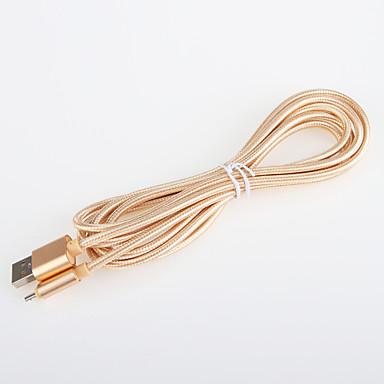 USB 2.0 Adaptador de cabo USB Entrançado Cabo Para Samsung 200 cm Alumínio