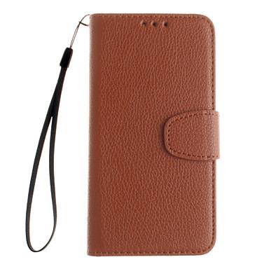 Mert Samsung Galaxy tok Kártyatartó / Pénztárca / Állvánnyal / Flip Case Teljes védelem Case Egyszínű Kemény Műbőr S5 / S4 / S3