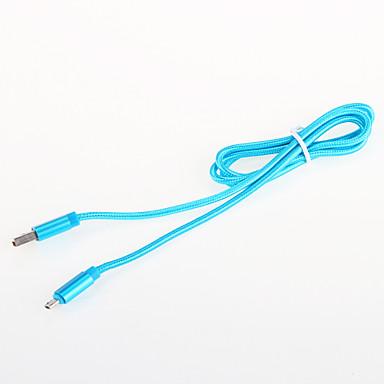 USB 2.0 Fonott Alumínium Kábelek 100cm