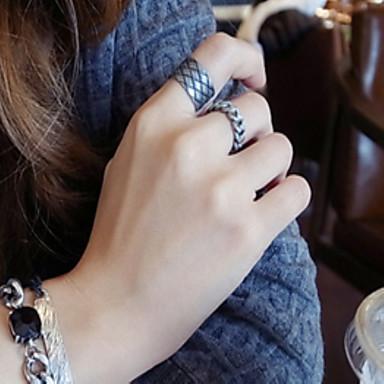 저렴한 반지-여성용 밴드 링 미디 반지 엄지 반지 실버 독특한 유니크 디자인 빈티지 패션 패션 반지 보석류 브라운 제품 파티 일상 캐쥬얼 원 사이즈