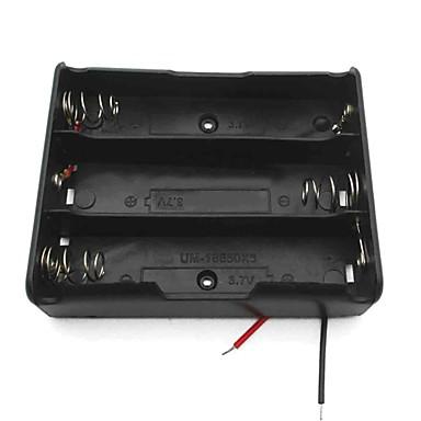 3 슬롯 3.7의 18650 배터리 홀더 케이스 상자 리드 승 / 블랙 -