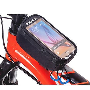 ROSWHEEL 자전거 프레임 백 휴대 전화 가방 132.07999999999998 인치 수분 방지 방수 지퍼 착용 가능한 충격방지 터치 스크린 싸이클링 용 iPhone 8/7/6S/6