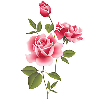 Csendélet Romantika Divat Virágok Botanikus Szabadidő Falimatrica Repülőgép matricák Dekoratív falmatricák Esküvő-matricák, PVC