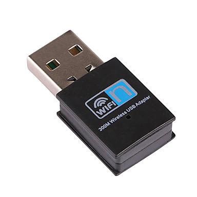 billige netværksadaptere-litbest mini 300m usb2.0 rtl8192 wifi dongle wifi adapter trådløst wifi dongle netværkskort 802.11 n / g / b wi fi lan adapter