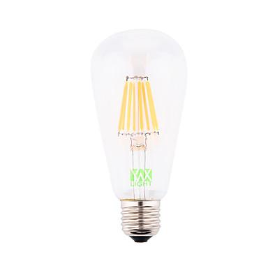 YWXLIGHT® 1db 700-800 lm E26/E27 Izzószálas LED lámpák ST64 8 led COB Dekoratív Meleg fehér AC 110-130V AC 220-240V AC 85-265V