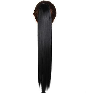 At Kuyrukları Sentetik Saç Saç Parçası Ek saç Düz Günlük