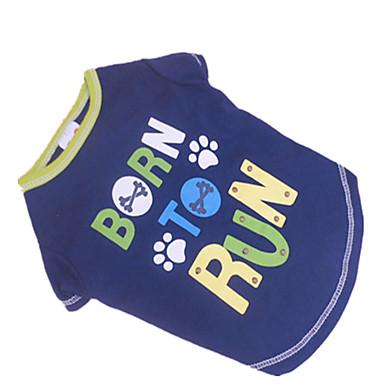 Camiseta - Verão - Azul Algodão - para Cães - XS / S / M