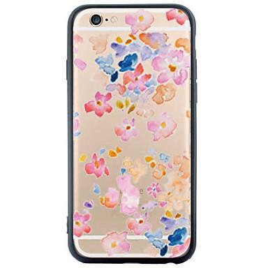용 아이폰6케이스 / 아이폰6플러스 케이스 투명 케이스 뒷면 커버 케이스 꽃장식 소프트 TPU Apple iPhone 6s Plus/6 Plus / iPhone 6s/6