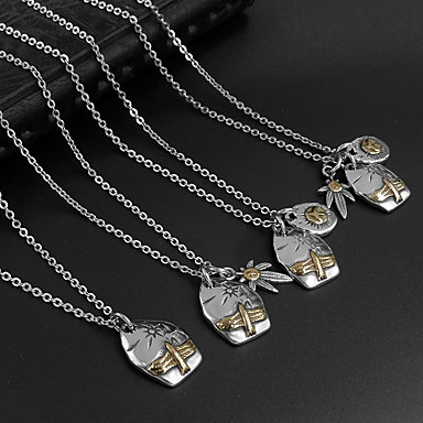 Férfi Női Nyaklánc medálok Függők Titanium Acél Divat Ékszerek Kompatibilitás Napi