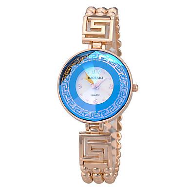 여성용 패션 시계 팔찌 시계 석영 캐쥬얼 시계 합금 밴드 우아한 실버 골드