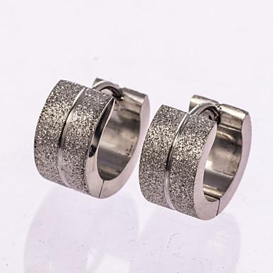 Pentru femei Zirconiu Cubic Teak Cercei Rotunzi - Clasic De Bază Auriu Negru Argintiu Rotund cercei Pentru Nuntă Petrecere Aniversare Zi