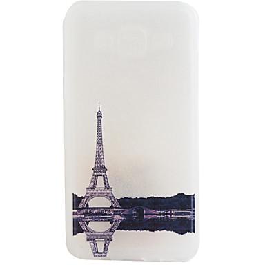 Case Kompatibilitás Samsung Galaxy Samsung Galaxy tok Jeges Hátlap Eiffel torony Puha TPU mert J7 J5 J1 2015 J1