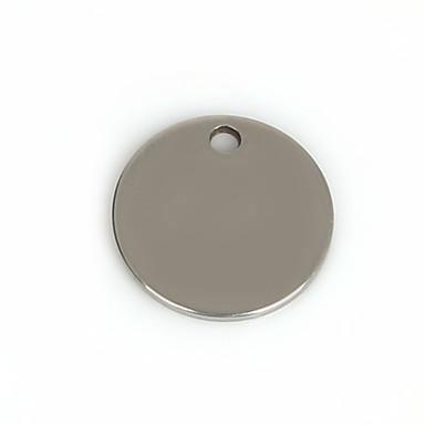 Amulettek Fém Round Shape A Picture 50Pcs