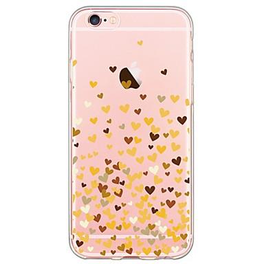 케이스 제품 Apple iPhone 6 iPhone 6 Plus 울트라 씬 투명 패턴 뒷면 커버 심장 소프트 TPU 용 iPhone 6s Plus iPhone 6s iPhone 6 Plus iPhone 6 iPhone SE/5s iPhone 5