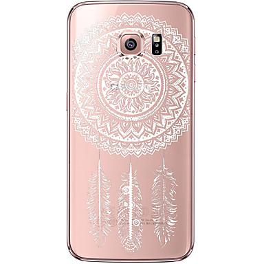 Кейс для Назначение SSamsung Galaxy Samsung Galaxy S7 Edge Прозрачный С узором Кейс на заднюю панель Ловец снов Мягкий ТПУ для S7 edge S7
