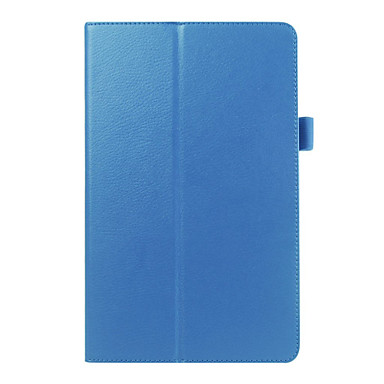 vouwen lederen tas liggen braak pu bescherming tabletcomputer shell voor samsung tab e T560 diverse kleuren