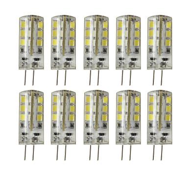 10 шт. 3 Вт. 200-250 lm G4 Двухштырьковые LED лампы T 24 светодиоды SMD 2835 Диммируемая Декоративная Тёплый белый Холодный белый DC 12V