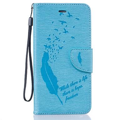 Mert iPhone 6 tok / iPhone 6 Plus tok Pénztárca / Kártyatartó / Minta Case Teljes védelem Case Egyszínű Puha Műbőr AppleiPhone 6s Plus/6