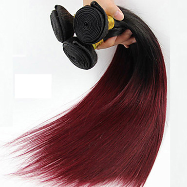 1 κομμάτι κατ 'ευθείαν ανθρώπινα μαλλιά υφαίνει μπρεζιλική υφή ανθρώπινα μαλλιά πλέκει ευθεία