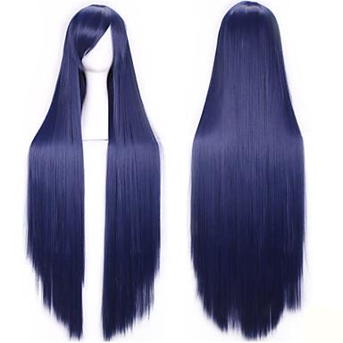 Συνθετικές Περούκες Ίσιο Με αφέλειες Πυκνότητα Χωρίς κάλυμμα Γυναικεία Καρναβάλι περούκα Απόκριες Περούκα Συνθετικά μαλλιά
