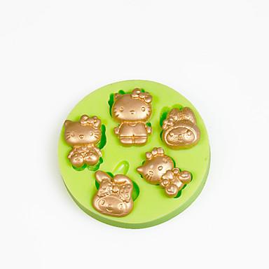 베이킹 몰드 만화 모양 초콜렛 파이 케이크 실리콘 환경친화적인 DIY 휴일