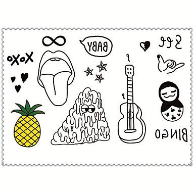 타투 스티커 쥬얼리 시리즈 애니멀 시리즈 꽃 시리즈 Totem Series 기타 만화 시리즈 Non Toxic 패턴 Waterproof 만화 여성 남성 어른 Teen 플래시 문신 임시 문신