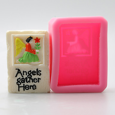 천사와 꽃 초콜릿 실리콘 몰드, 케이크 금형, 비누 몰드, 장식 도구 목록 bakeware