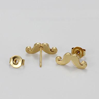 Női Beszúrós fülbevalók - 18 karátos futtatott arany Mások Aranyozott