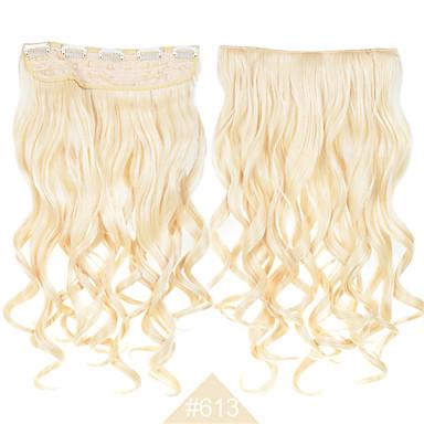divat cosplay hajcsat szintetikus haj # 613 szőke színű, hosszú göndör, hullámos haj kiterjesztések magas hőmérsékletű rost