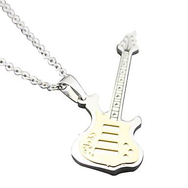 gitár szerelmesei nyaklánc - fehér arany iparmágnás
