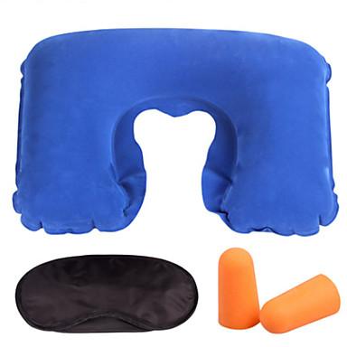 3 세트 여행용 수면 안대 여행 베개 쿠션 여행용 기압조절 귀마개 휴대용 U 형태 여행용 휴식 악세사리 용 휴대용 U 형태 여행용 휴식 악세사리 그린 핑크 다크 레드 밝은 블루 네이비 블루